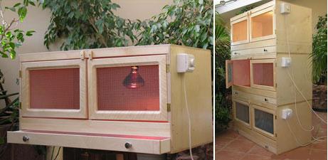 Персональный сайт - Самодельные клетки для обогрева и подращивания цыплят.Брудеры.